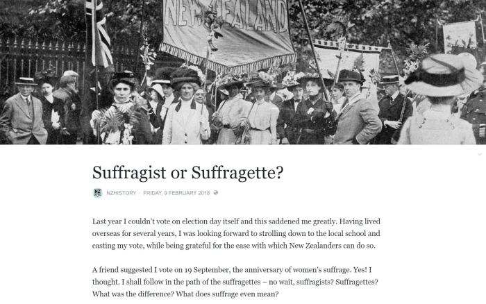 Suffragist or Suffragette